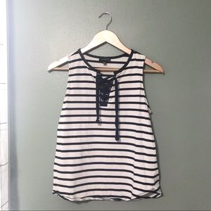 The Limited Navy & White Tank Top Size Small